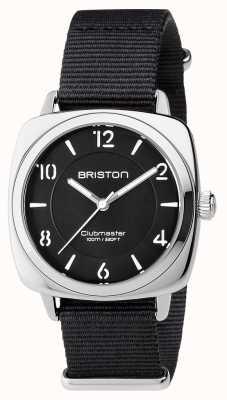 Briston Unisex Clubmaster Chic schwarz Stahl mit NATO-Gurt 17536.S.L.1.NB
