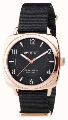 Briston Unisex Clubmaster schick schwarz pvd Roségold 17536.SPRG.L.1.NB