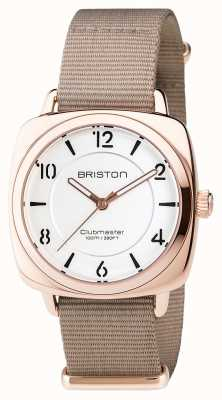 Briston Clubmaster chic Stahl - hms goldfarbenes Zifferblatt 17536.SPRG.L.2.NT