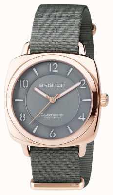 Briston Unisex Clubmaster schick grau pvd Roségold 17536.SPRG.L.17.NG