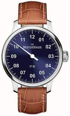 MeisterSinger Herren klassische Nr. 2 Hand gewickelt Sonnendurchbruch blau AM6608N