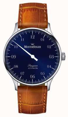 MeisterSinger Herren klassische Pangaea automatische Sonnendurchbruch blau PM908