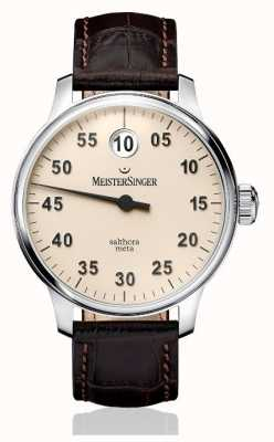 MeisterSinger Mens classic plus salthora meta automatischen elfenbein SAM903