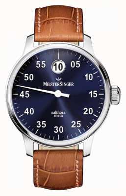 MeisterSinger Herren klassisch plus salthora meta auto sunburst blau SAM908