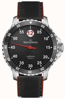 MeisterSinger Herren klassisch plus salthora meta x automatisch schwarz rot SAMX902