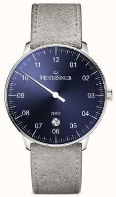 MeisterSinger Mens Form und Stil neo plus automatische Sunburst blau NE408