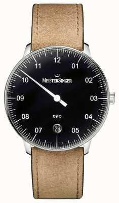 MeisterSinger Mens Form und Stil neo automatisch schwarz NE902N