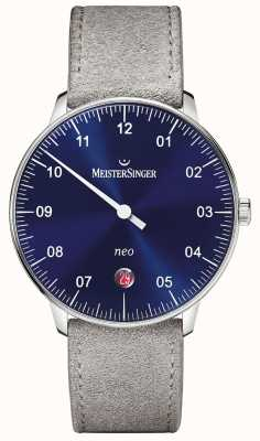 MeisterSinger Mens Form und Stil neo automatische Sunburst blau NE908N