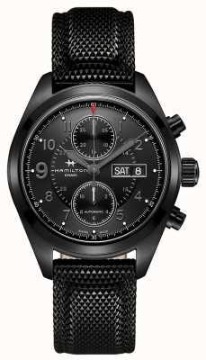 Hamilton Khaki Feld Auto Chrono schwarz H71626735