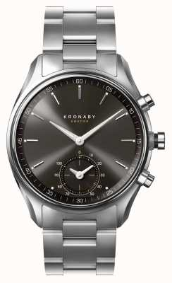 Kronaby 43mm secel bluetooth schwarz Zifferblatt Edelstahl Smartwatch A1000-0720