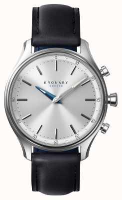 Kronaby 38mm sekel bluetooth schwarzes lederband a1000-0657 S0657/1