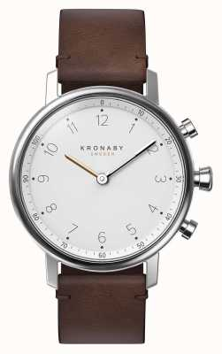 Kronaby 38mm nord bluetooth braunes lederband a1000-0711 S0711/1