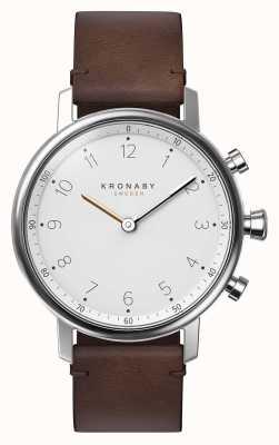 Kronaby 38mm nord bluetooth braunes lederarmband smartwatch A1000-0711