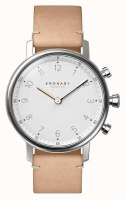 Kronaby 38mm nord bluetooth beige lederband a1000-0712 S0712/1