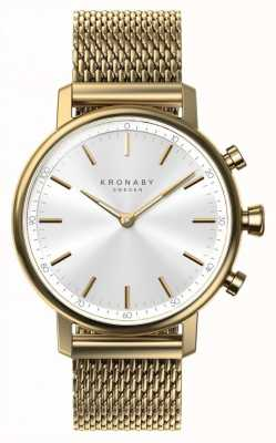 Kronaby 38mm karat bluetooth gold mesh armband a1000-0716 S0716/1