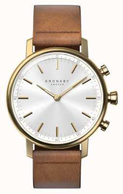 Kronaby 38 mm Karat Bluetooth braun Lederarmband Smartwatch A1000-0717