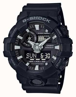 Casio G-Shock schwarzer Alarm-Chronograph für Herren GA-700-1BER