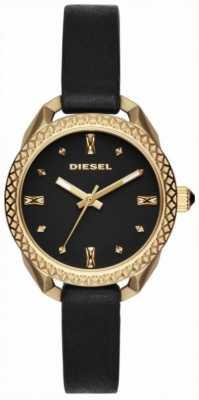 Diesel Damen Shawty schwarz und gold Uhr DZ5547