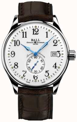 Ball Watch Company Mens trainmaster Standard Zeit Chronometer NM3888D-LL1CJ-WH