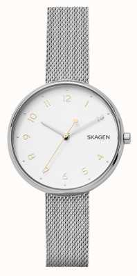 Skagen Womans Unterschrift Silber Edelstahl Mesh Armband SKW2623