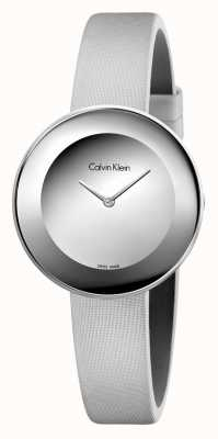 Calvin Klein Womans schickes graues Lederband graues Zifferblatt K7N23UP8
