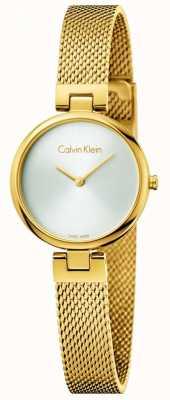 Calvin Klein Womans authentisches pvd Gold überzogenes Stahlnetzarmband K8G23526