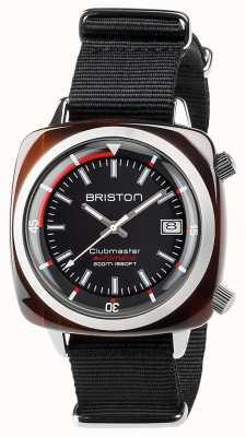 Briston Unisex Clubmaster Taucher Schildpatt Acetat Auto schwarz 17642.SA.TD.1.NB