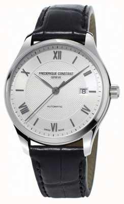 Frederique Constant Mens Classics Index automatisches schwarzes Lederband FC-303MS5B6