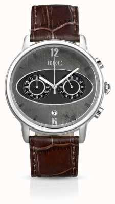 REC Mark 1 m1 Chronograph braunes Lederarmband M1