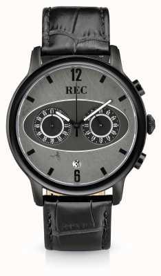 REC Mark 1 m3 Chronograph schwarzes Lederarmband M3