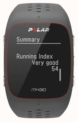 Polar M430 graue Gummi-Sportuhr 90064404