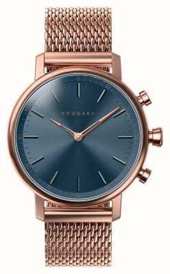 Kronaby 38mm Karat bluetooth roségold blau Zifferblatt Smartwatch A1000-0668
