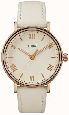 Timex Womans Southview 37mm Creme Zifferblatt Rosé Gold Ton Fall TW2R28300