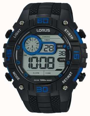Lorus Herren Digitaluhr schwarz und blau R2353LX9