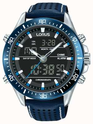 Lorus Herren Sport Analog / Digital Chronograph blau RW643AX9