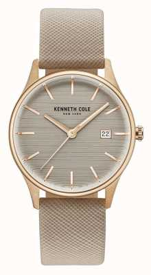 Kenneth Cole Womans braunes Zifferblatt braunes Lederband KC15109003