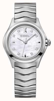 EBEL Wave Damen Uhr aus Edelstahl mit Diamantbesatz 1216193