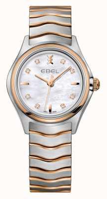 EBEL Zweifarbige Roségold Uhr der Wave Damen 1216324