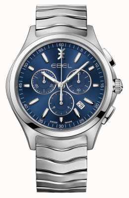 EBEL Wave Herren blaue Zifferblatt Chronographenuhr 1216344
