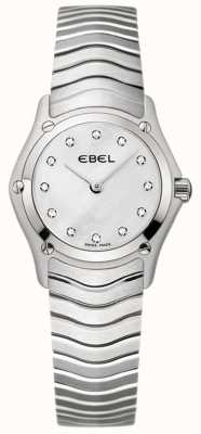 EBEL Klassische Damen-Diamant-Uhr aus Edelstahl 1215421