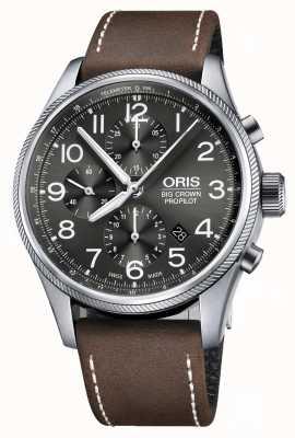 Oris Big Crown Propilot Automatik Chronograph braun Lederband 01 774 7699 4063-07 5 22 05FC