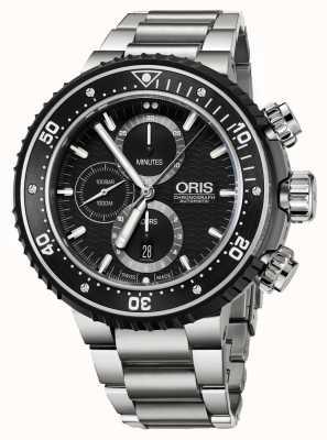 Oris Prodiver 1000m automatischer Chronograph Titan 01 774 7727 7154-SET