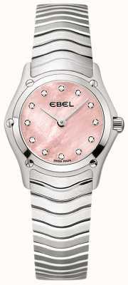 EBEL Womens klassischen 12 Diamant rosa Zifferblatt Edelstahl 1216279