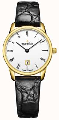 Dreyfuss Womans 1980 Lederband Goldgehäuse Uhr DLS00136/01