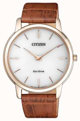 Citizen Mens Öko-Drive Stiletto ultra dünnen braunen Lederband AR1133-15A