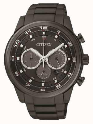 Citizen Mens Öko-Laufwerk Chronograph schwarz ip CA4035-57E