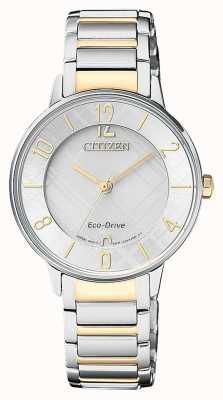 Citizen Womens Eco-Drive zwei Ton Muster Zifferblatt Uhr EM0524-83A