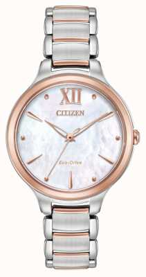 Citizen Womens l zwei Ton Rose Gold Uhr EM0556-87D