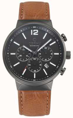 Obaku Herren Sturm braun Leder Uhr V180GCUURZ