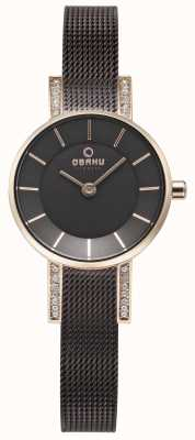 Obaku Womans lykke Walnuss-Mesh-Uhr V207LEVNMN